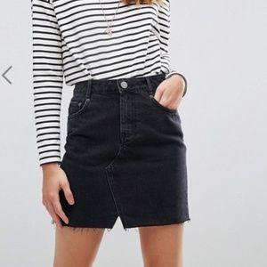 ASOS Denim black skirt NWT